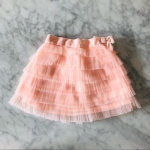 Janie and Jack baby tulle skirt soft pink 3-6